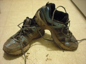 Dirty trail shoes